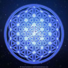 Blue Moon Flower of Life
