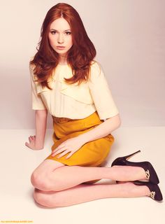 Karen Gillan Doctor who Matt smith Geek Pretty Ginger Red hair