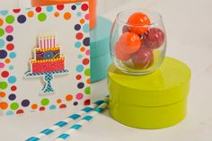 Use these bright invitations to tell all of your guests about the party! #CelebrateExpress #Colorful