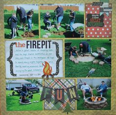 the firepit - Scrapbook.com, using Simple Stories Take a Hike materials
