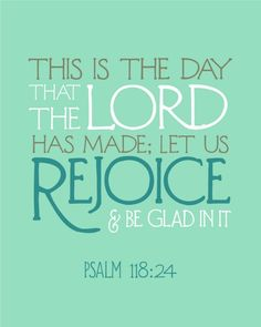 Rejoice in what the Lord has given us❣