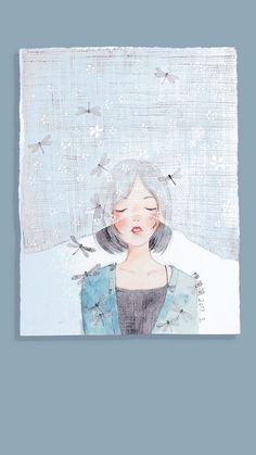 Read Girl art from the story Galeri Vector & Gambar Mentahan by la_flz (HIATUS) with reads. Cartoon Kunst, Cartoon Art, Art And Illustration, Cover Wattpad, Anime Art Girl, Aesthetic Art, Cute Wallpapers, Cute Art, Watercolor Art
