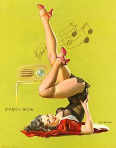 Radio pin-up