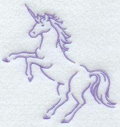 """Magical Unicorn Outline (EL) 4.79""""(w) x 5.08""""(h) -- Own It"""