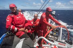 February 22, 2015. Leg 4 to Auckland onboard MAPFRE. Day 14. The watch team at the stern - Francisco Vignale / MAPFRE / Volvo Ocean Race