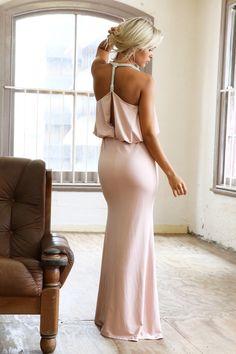 Blush Jewel T-Back Formal Dress   www.ustrendy.com #USTrendy