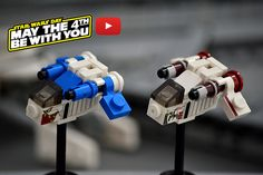 Build your own microscale LEGO Star Wars Republic Gunship, complete with decals [Instructions]