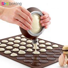 [US $7.02] Shebaking 1pc Large Size 48 Holes Silicone Macaron 3D  #holes #large #macaron #shebaking #silicone #size