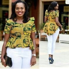 If you are dressing to make an impression, our latest Ankara collection beautifully executed the trends of the season with impeccable personality.The stunning styles are not only eye-catching but also party-ready. You will certainly receive several compliments, whether you are on the red carpet...