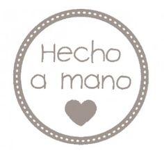 """Sello """"Hecho a mano con amor""""."""
