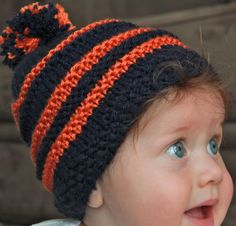 #University of Illinois#college#baby#beanies#football#Big Ten Teams#    http://collegebabybeanies.com/?product=university-of-illinois-2#