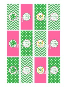 Printable Happy St. Patrick's Day Mini Hershey's Candy Bar Wrappers | aMerAZNStyLe - Digital Art  on ArtFire
