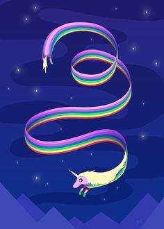 From Adventure Time :D<<< umm. I believe it's lady rainicorn. Watch Adventure Time, Adventure Time Characters, Unicorn And Fairies, Unicorn Fantasy, Marceline, Geeks, Cartoon Network, Unicorns, Scotlands National Animal