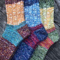 Kapital 56 Yarn Socks. (made in japan, kountry, blue hands)