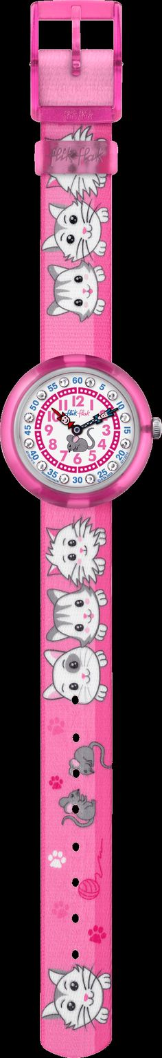 CUTY CATS IN PINK by Flik Flak – The Swiss made watch for kids