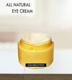 Make your very own all natural eye cream with oils that will nourish and moisturize the skin under the eyes...