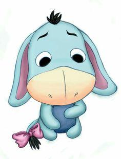 "Baby Eeyore.  "" Winnie The Pooh and Friends"""