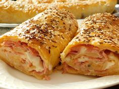 Bagel, Lasagna, Cake Recipes, Good Food, Bread, Chicken, Ethnic Recipes, Sweet, Candy