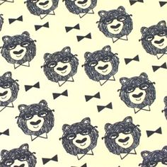 Webshop kiwifabrics - tricot stoffen  bowtie_bear_andrea_lauren