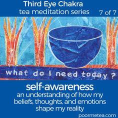 7 Days 7 Chakras Third Eye Chakra Tea Meditation, Self-awareness