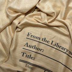 Book Scarf. Library scarf. Literary scarf. Print by UniversalZone
