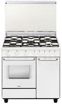 Smeg CB91GV1: Smeg CB91GV1. Case design: Freestanding, Colour of product: White, Control type: Rotary. Total oven(s) interior capacity: 60l, Oven...