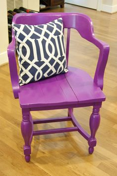love this wooden purple chair