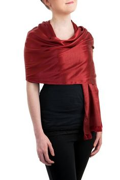 Opulent Luxury Scarf Shawl is woven from the finest 100% Silk which gives you the right amount of coverage during the colder seasons.