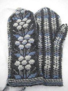 Kainuun lapaset - mittens from Kainuu Crochet Mittens, Mittens Pattern, Knitted Gloves, Knitting Socks, Knit Crochet, Knitting Machine, Palestinian Embroidery, Knitting Projects, Knitting Ideas