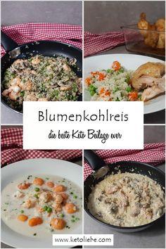 Blumenkohlreis, die beste Keto Beilage ever! Chicken, Food, Meals, Yemek, Buffalo Chicken, Eten, Rooster