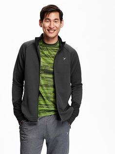 Men's Ribbed Go-Warm Running Jacket
