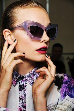 1cf99b5a6 Prabal Gurung and Violet glasses. Cuatro Ojos, Lavanda, Lentes, Gafas De Sol