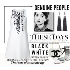 How To Wear Black vs White Outfit Idea 2017 - Fashion Trends Ready To Wear For Plus Size, Curvy Women Over 20, 30, 40, 50
