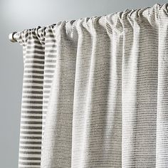 Top-to-bottom band of stacked stripes adds an elegant edge to this clean cotton panel. Created by one of the oldest forms of textile design. Living Room Decor Curtains, Living Room Pillows, Striped Curtains, Printed Curtains, Drapery Panels, Panel Curtains, Shower Curtains, Tribal Bedroom, Wooden Blocks