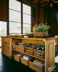 This place is gorgeous! Check out that island!    Dannis Wdlick via desiretoinspire.net - A convertedbarn