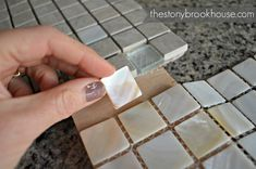 matches pretty good Diy Mirror Frame Bathroom, Mirror Tiles, Pretty Good, Crafts To Do, Coastal Decor, Projects To Try, Bathroom Designs, Bathroom Ideas, How To Make