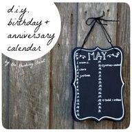 DIY Birthday  Anniversary Calendar