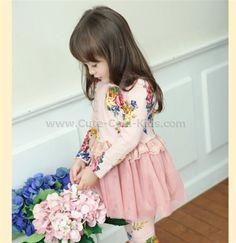 กระโปรงเด็กเกาหลีสีชมพู - 110- 120-- 130-- 140--