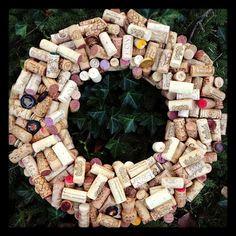 A wine cork wreath!