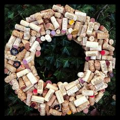 A wine cork wreath!