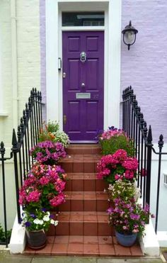 Chelsea, London, England--if you're afraid to be bold on your entire house, try just the entrance!