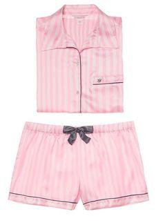 New 3 PC Victoria's Secret Green Plaid Pajama Underwear Set Small 34B shorts bra