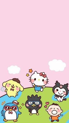 Check out this awesome collection of Sanrio iPhone wallpapers, with 44 Sanrio iPhone wallpaper pictures for your desktop, phone or tablet. Hello Kitty Iphone Wallpaper, Kitten Wallpaper, My Melody Wallpaper, Hello Kitty Backgrounds, Sanrio Wallpaper, Cute Pastel Wallpaper, Kawaii Wallpaper, Wallpaper Stickers, Iphone Backgrounds