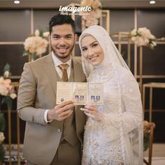 Kebaya Wedding, Muslimah Wedding Dress, Muslim Wedding Dresses, Wedding Bridesmaid Dresses, White Wedding Dresses, Wedding Hijab Styles, Indonesian Wedding, Foto Wedding, Bridal Hijab