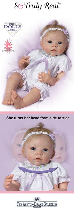 It's love at first sight with the So Truly Real Chloe, a lifelike baby doll by Linda Murray that turns her head from side to side!