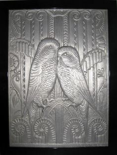 This spectacular American art deco aluminum wall plaque was designed by sculptor Rene Chambellan (1893-1955) one of the foremost practitioners of the art deco style in America. His work is in such deco architectural icons as the American Radiator Building, Chicago Tribune Building, Daily News Building and most famously in the Chanin Building.