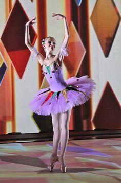 "Kristina Andreeva as Columbine, in the pas de  deux from ""Les millions d'Arlequin"".  (Galiaskar Kamal Tatar Academic Theatre)"