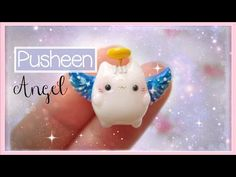 Kawaii Pusheen Cat Angel Polymer Clay Tutorial