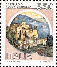 Sello: Castles- Rocca Sinibalda (Italia) (Castles) Mi:IT Vintage Art, Vintage World Maps, Postage Stamp Art, Old Ads, Small Art, Fauna, Stamp Collecting, Pencil Art, Germany