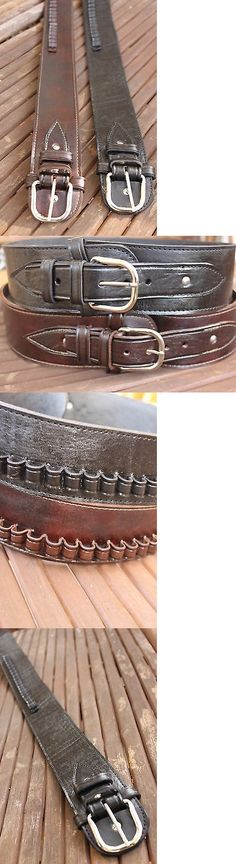 Ammunition Belts and Bandoliers 177884: New Handmade Western Leather 44 45 Cal Cartridge Belt Sass Rig Gun Ammo 34 -52 -> BUY IT NOW ONLY: $39.48 on eBay!